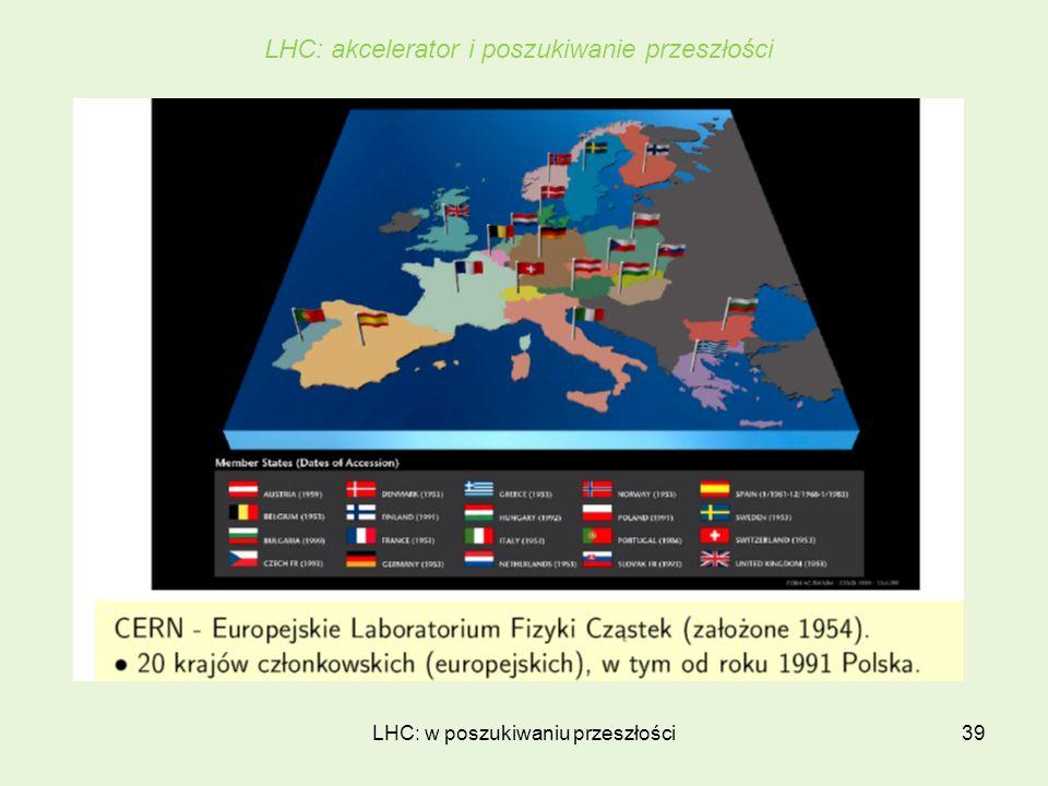 LHC: w poszukiwaniu przeszłości39 LHC: akcelerator i poszukiwanie przeszłości