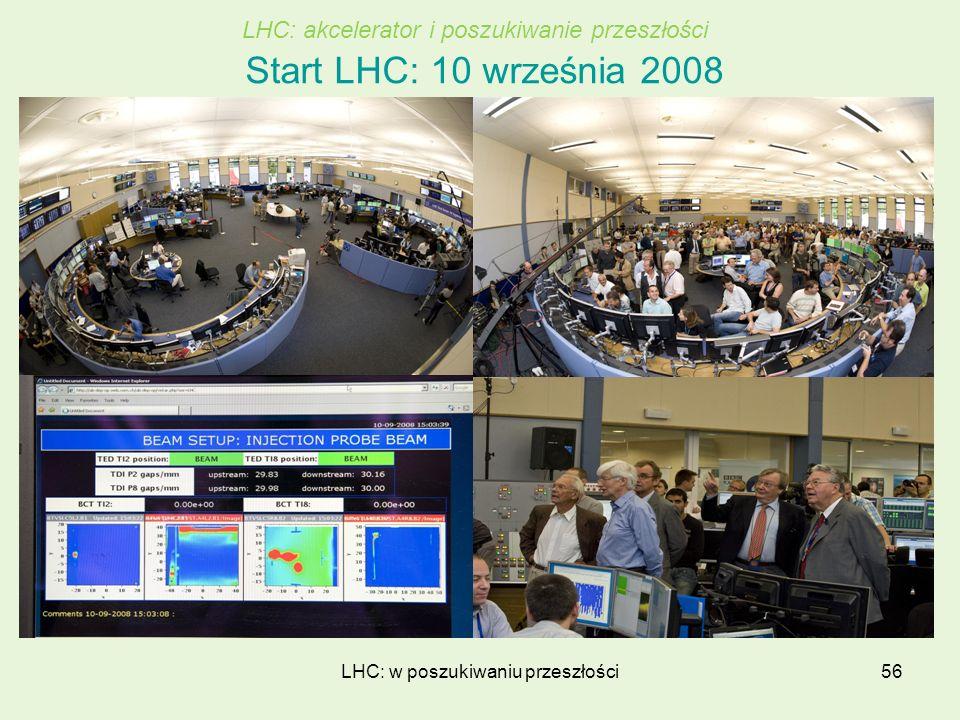 LHC: w poszukiwaniu przeszłości56 Start LHC: 10 września 2008 LHC: akcelerator i poszukiwanie przeszłości