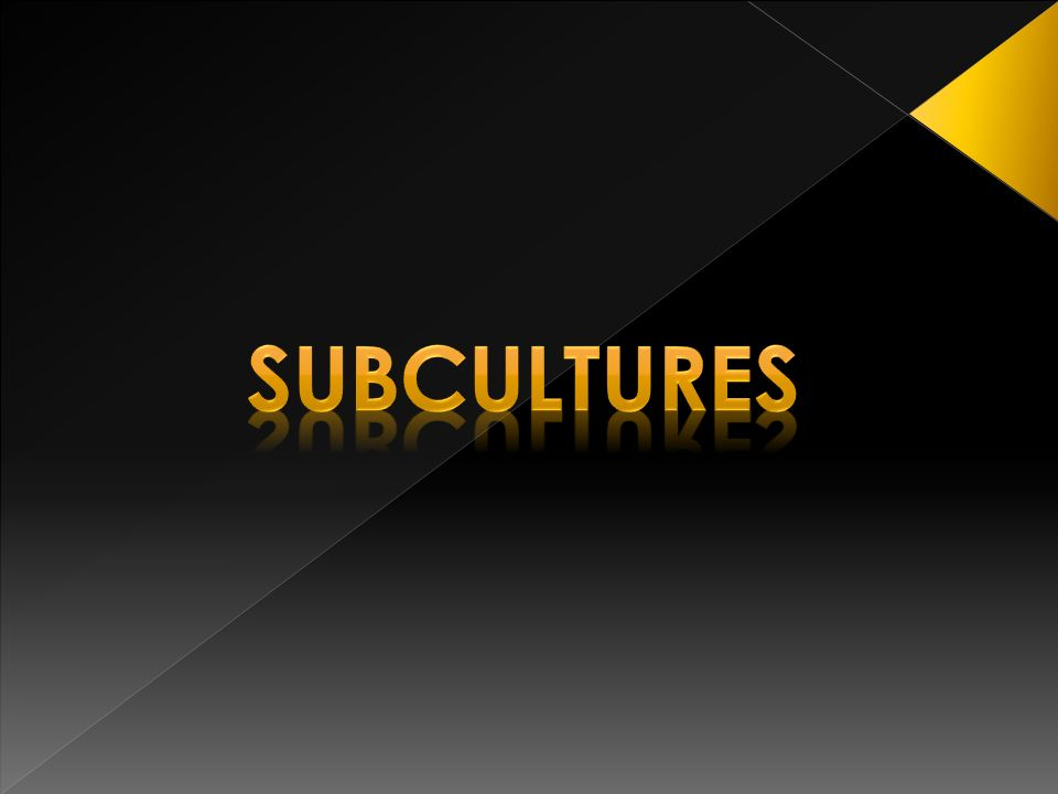 Subculture born in the late 70s and 80s twentieth century.