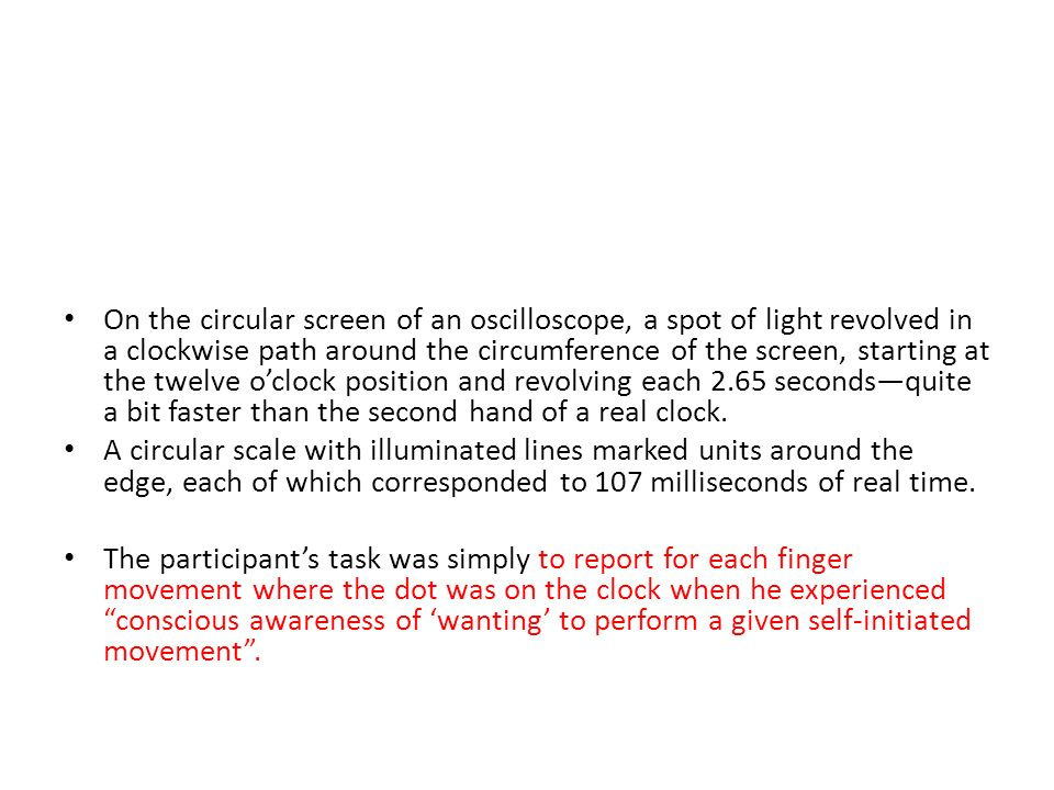 On the circular screen of an oscilloscope, a spot of light revolved in a clockwise path around the circumference of the screen, starting at the twelve oclock position and revolving each 2.65 secondsquite a bit faster than the second hand of a real clock.