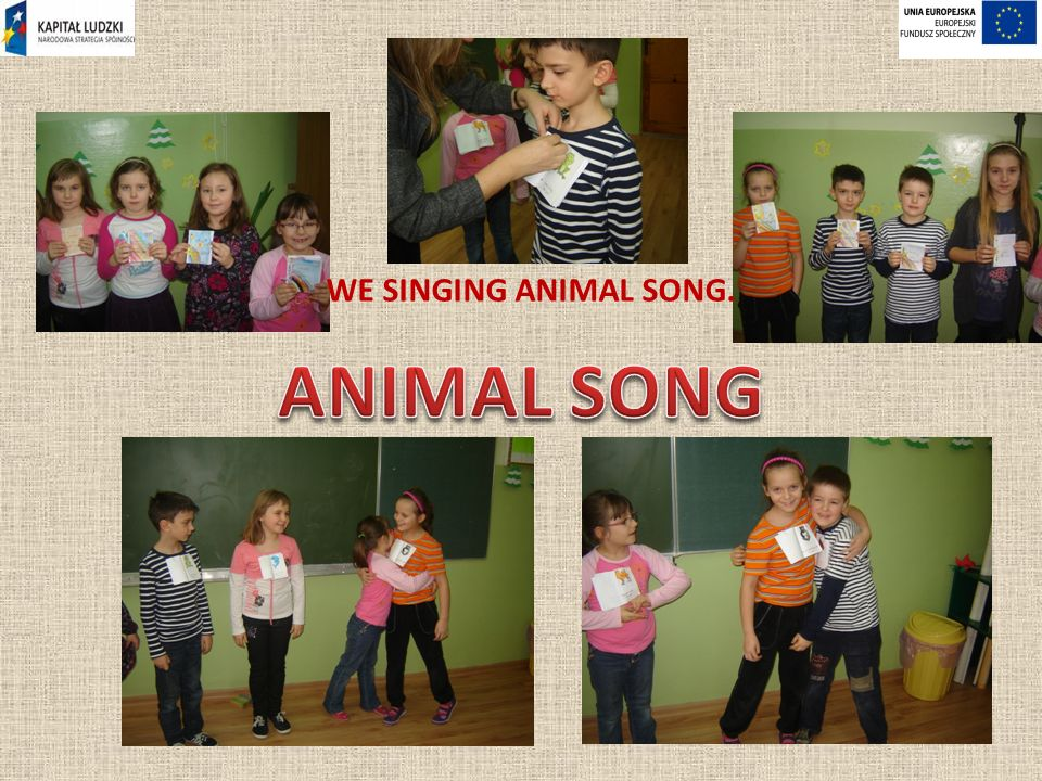 WE SINGING ANIMAL SONG.