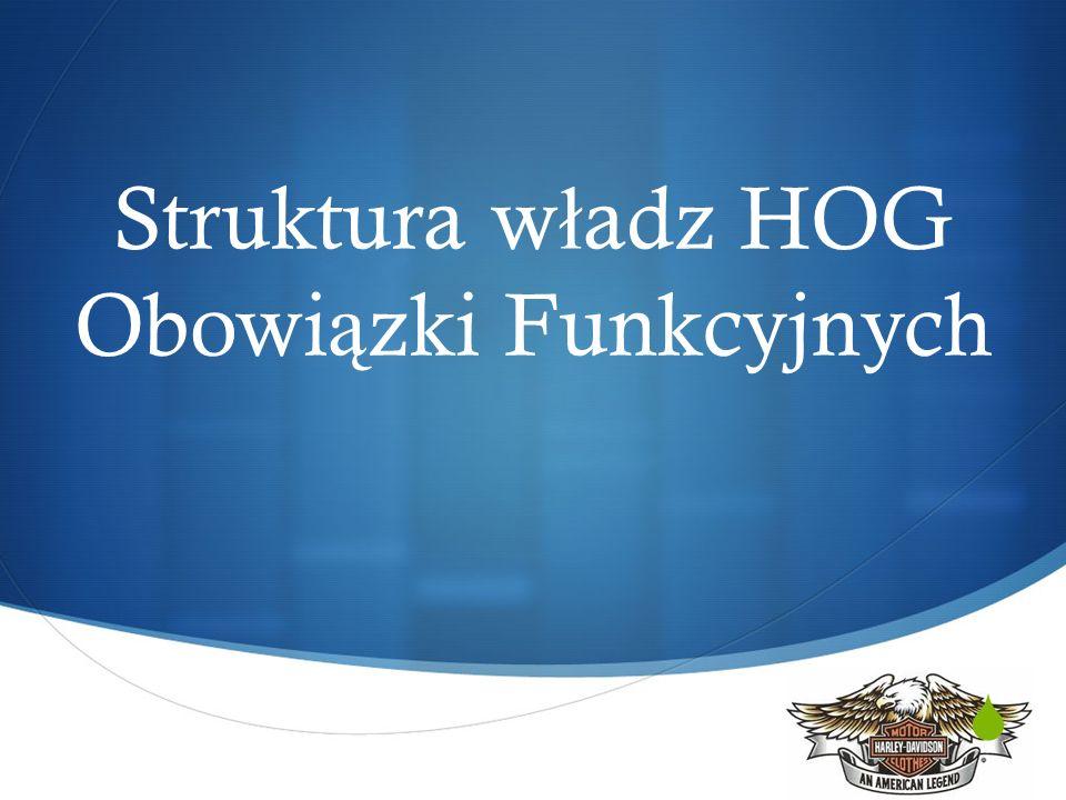 Struktura w ł adz HOG Obowi ą zki Funkcyjnych