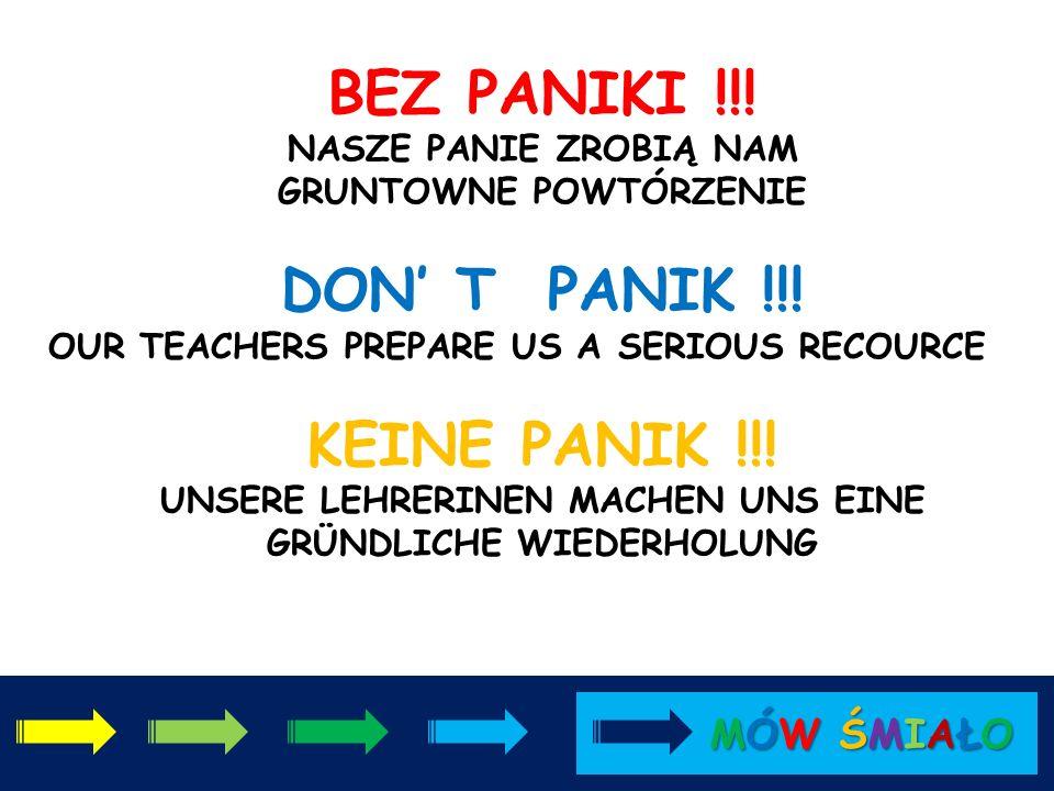 TROCHĘ SIĘ STRESUJEMY. 27 KWIETNIA MUSIMY SIĘ WYKAZAĆ ;) WE ARE A BIT STRESFUL AT THE MOMENT. ON 27- th APRIL WE HAVE TO PROVIDE OUR LANGUAGE SKILLS ;