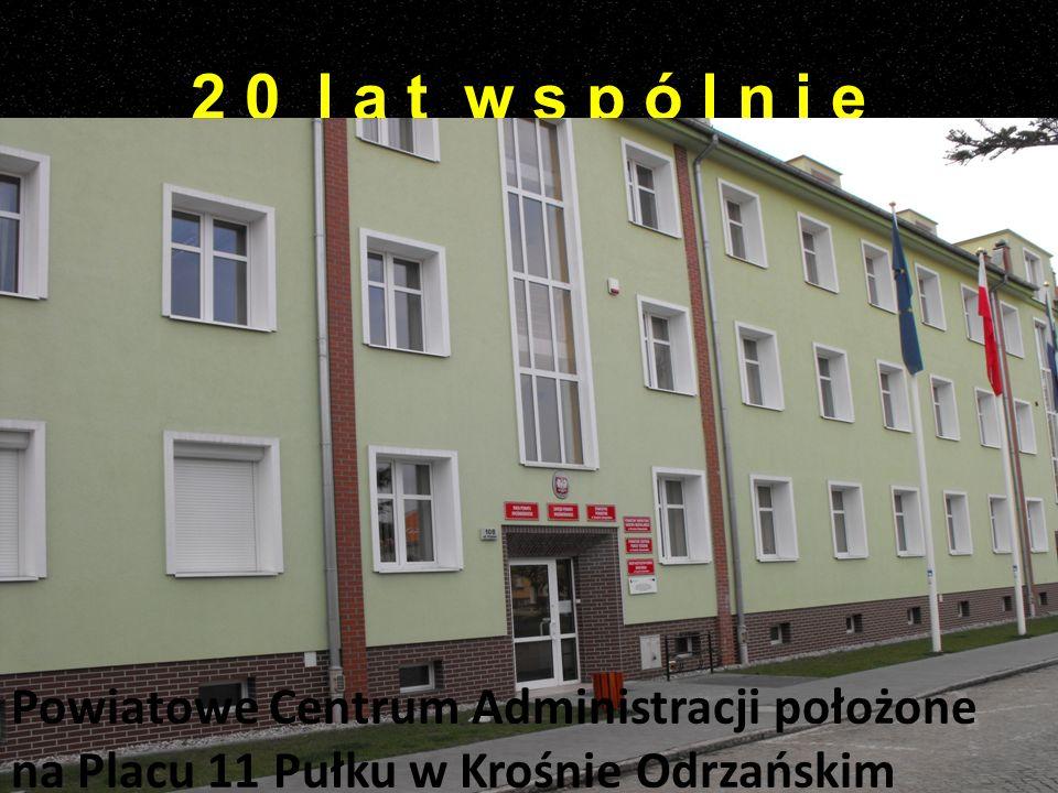 Powiatowe Centrum Administracji położone na Placu 11 Pułku w Krośnie Odrzańskim