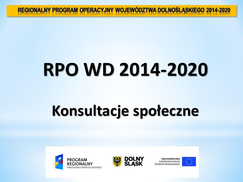 RPO WD 2014-2020 Konsultacje społeczne