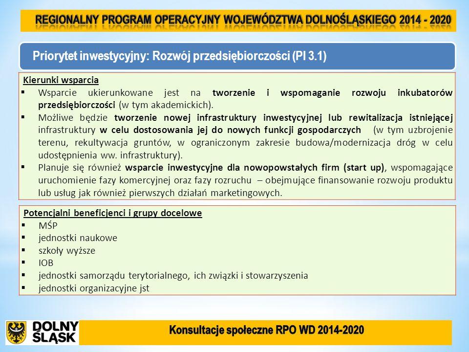 Konieczność przeznaczenia w ramach RPO określonych środków na cele objęte koncentracją tematyczną.