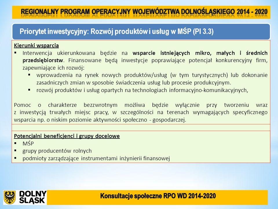FunduszAlokacja (EUR) Oś priorytetowa 1 PRZEDSIĘBIORSTWA I INNOWACJE EFRR 338 352 000 Oś priorytetowa 2 TECHNOLOGIE INFORMACYJNO-KOMUNIKACYJNE EFRR 28 196 000 Oś priorytetowa 3 GOSPODARKA NISKOEMISYJNA EFRR 289 009 000 Oś priorytetowa 4 ŚRODOWISKO I ZASOBY EFRR 140 980 000 Oś priorytetowa 5 TRANSPORT EFRR 394 744 000 Oś priorytetowa 6 INFRASTRUKTURA SPÓJNOŚCI SPOŁECZNEJ EFRR 162 127 000 Oś priorytetowa 7 INFRASTRUKTURA EDUKACYJNA EFRR 56 392 000 Oś priorytetowa 8 RYNEK PRACY EFS 256 032 000 Oś priorytetowa 9 WŁĄCZENIE SPOŁECZNE EFS 121 920 000 Oś priorytetowa 10 EDUKACJA EFS 152 400 000 POMOC TECHNICZNA EFS 79 248 000 RAZEM - 2 019 400 000 Plan finansowy Programu w podziale na osie priorytetowe