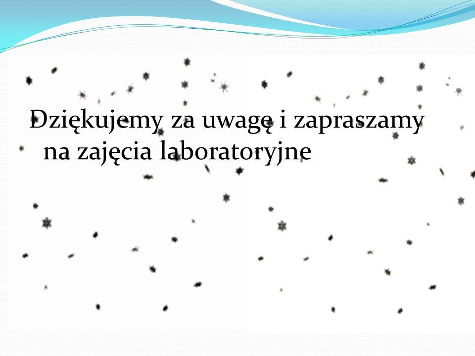 Dziękujemy za uwagę i zapraszamy na zajęcia laboratoryjne