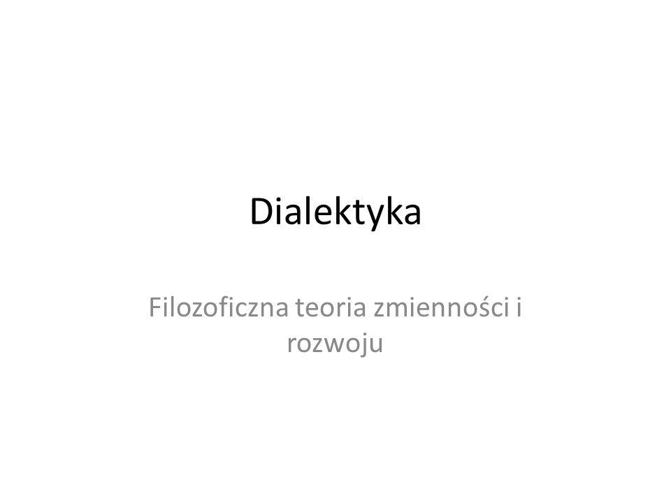 Dialektyka Filozoficzna teoria zmienności i rozwoju