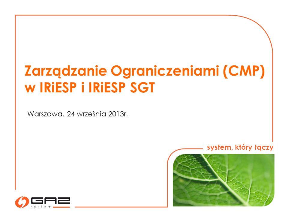 system, który łączy 2 Załącznik I do rozporządzenia (WE) nr 715/2009 Parlamentu Europejskiego i Rady w sprawie warunków dostępu do sieci przesyłowych gazu ziemnego przewiduje następujące procedury zarządzania ograniczeniami w przypadku ograniczeń kontraktowych : 1)zwiększanie zdolności poprzez mechanizm nadsubskrypcji i wykupu, 2)mechanizm udostępniania zdolności ciągłej z jednodniowym wyprzedzeniem na zasadzie wykorzystaj lub strać, 3)rezygnacja z zakontraktowanej zdolności, 4)mechanizm oparty na długoterminowej zasadzie wykorzystaj lub strać.