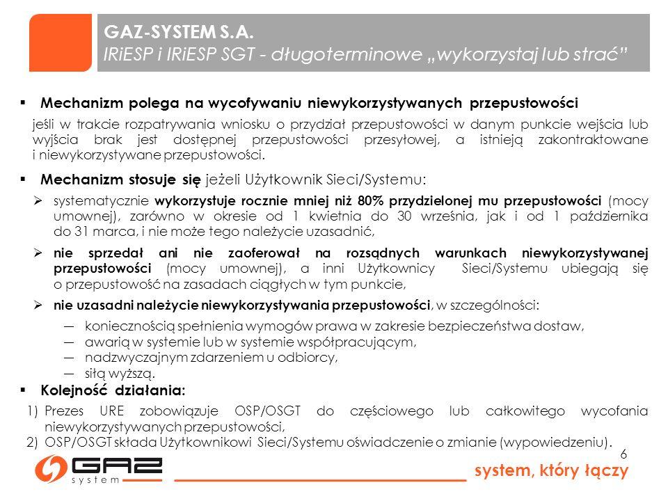 system, który łączy 7 GAZ-SYSTEM S.A.