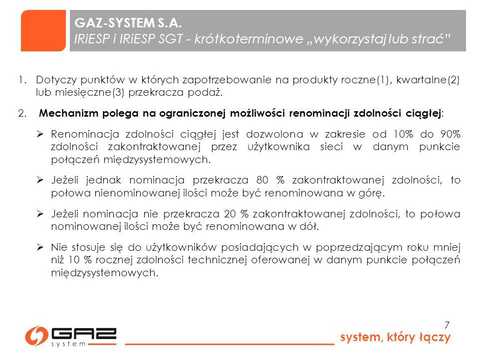 system, który łączy 8 GAZ-SYSTEM S.A.