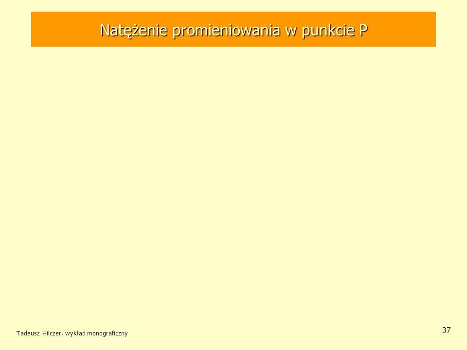 Natężenie promieniowania w punkcie P Tadeusz Hilczer, wykład monograficzny 37