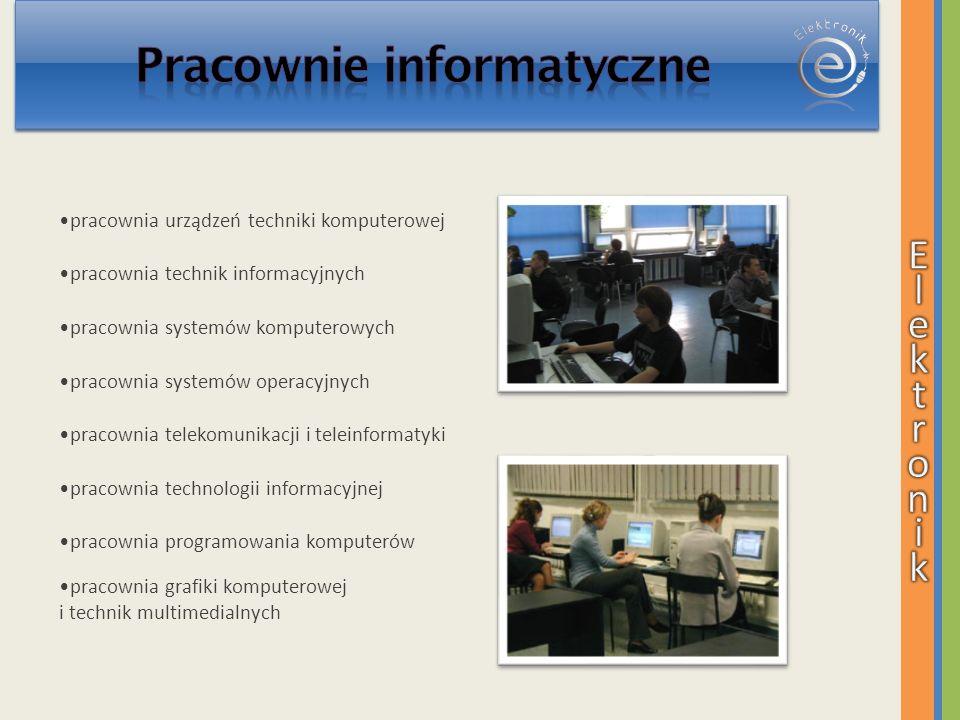 pracownia urządzeń techniki komputerowej pracownia technik informacyjnych pracownia systemów komputerowych pracownia systemów operacyjnych pracownia t