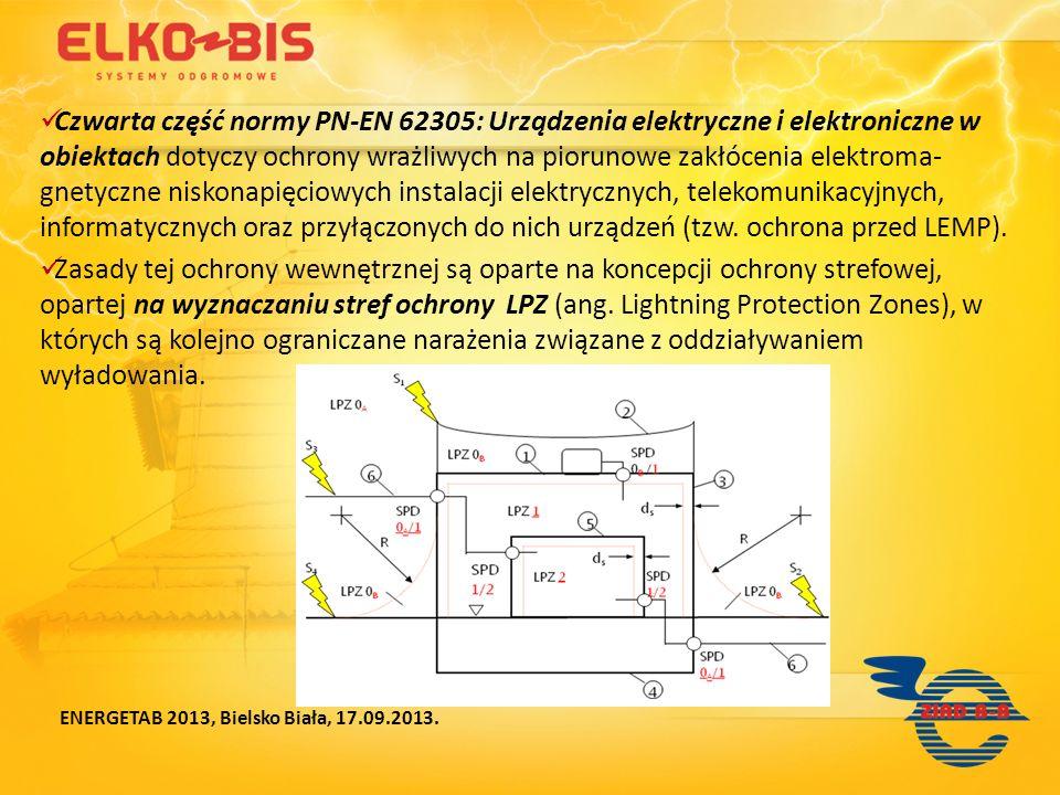 Czwarta część normy PN-EN 62305: Urządzenia elektryczne i elektroniczne w obiektach dotyczy ochrony wrażliwych na piorunowe zakłócenia elektroma- gnet
