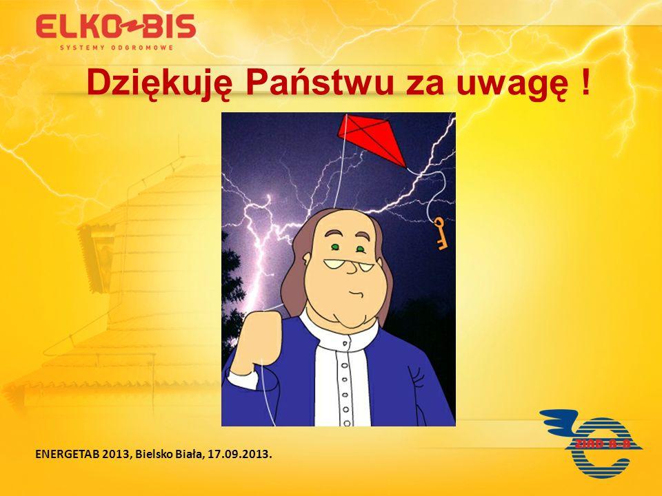 ENERGETAB 2013, Bielsko Biała, 17.09.2013. Dziękuję Państwu za uwagę !