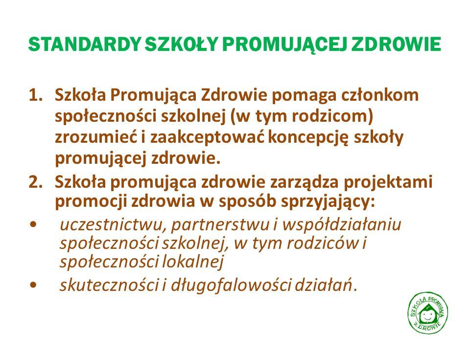 STANDARDY SZKOŁY PROMUJĄCEJ ZDROWIE 3.