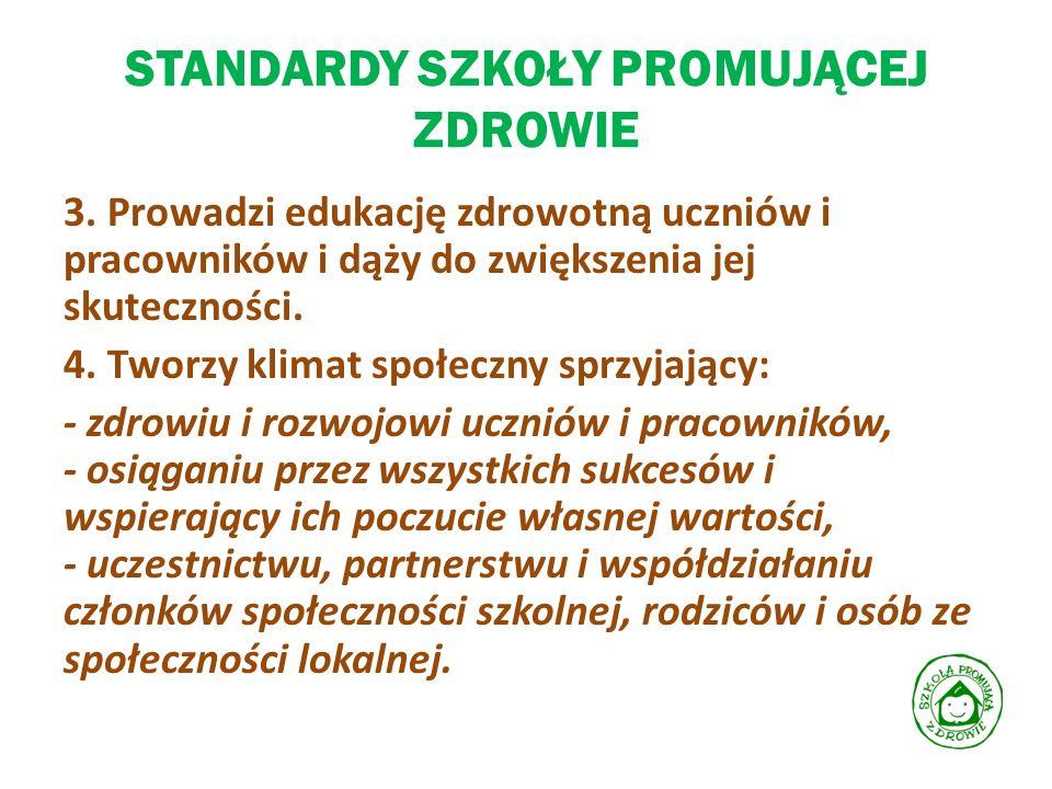 STANDARDY SZKOŁY PROMUJĄCEJ ZDROWIE 5.