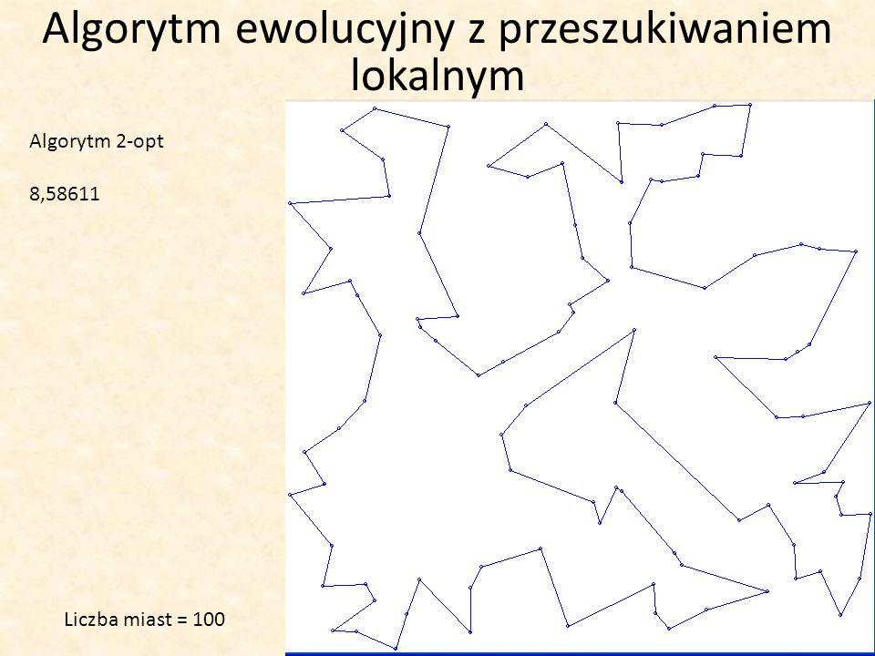 Algorytm 2-opt 8,58611 Liczba miast = 100