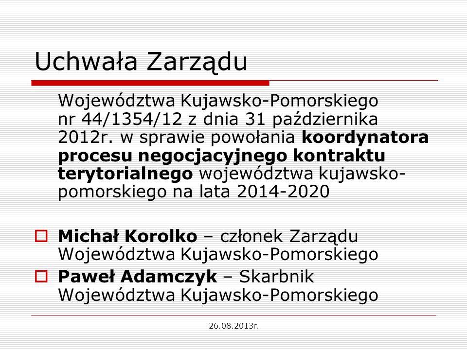 Uchwała Zarządu Województwa Kujawsko-Pomorskiego nr 44/1354/12 z dnia 31 października 2012r.