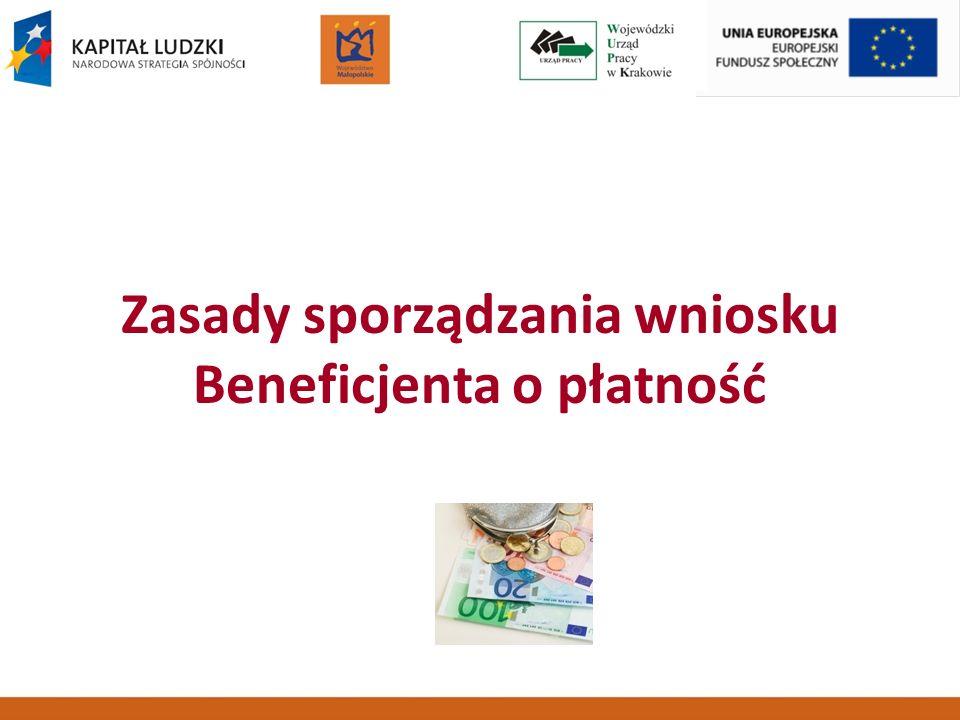 GENERATOR WNIOSKÓW PŁATNICZYCH Obecnie obowiązująca wersja 2.1.6 do pobrania na stronach www.efs.gov.plwww.efs.gov.pl www.pokl.wup-krakow.plwww.pokl.wup-krakow.pl Instrukcja: Zasady finansowania PO KL - zał.6