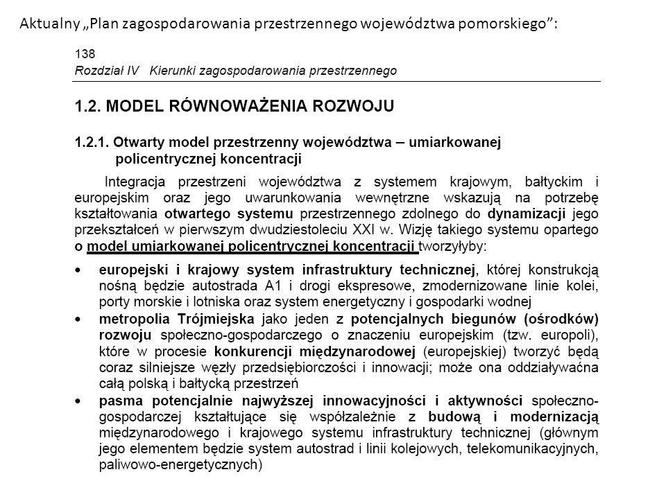 Aktualny Plan zagospodarowania przestrzennego województwa pomorskiego: