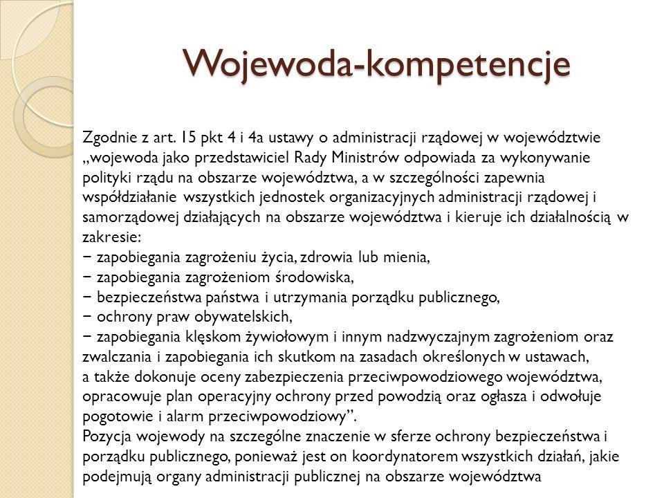 Wojewoda-kompetencje Zgodnie z art.