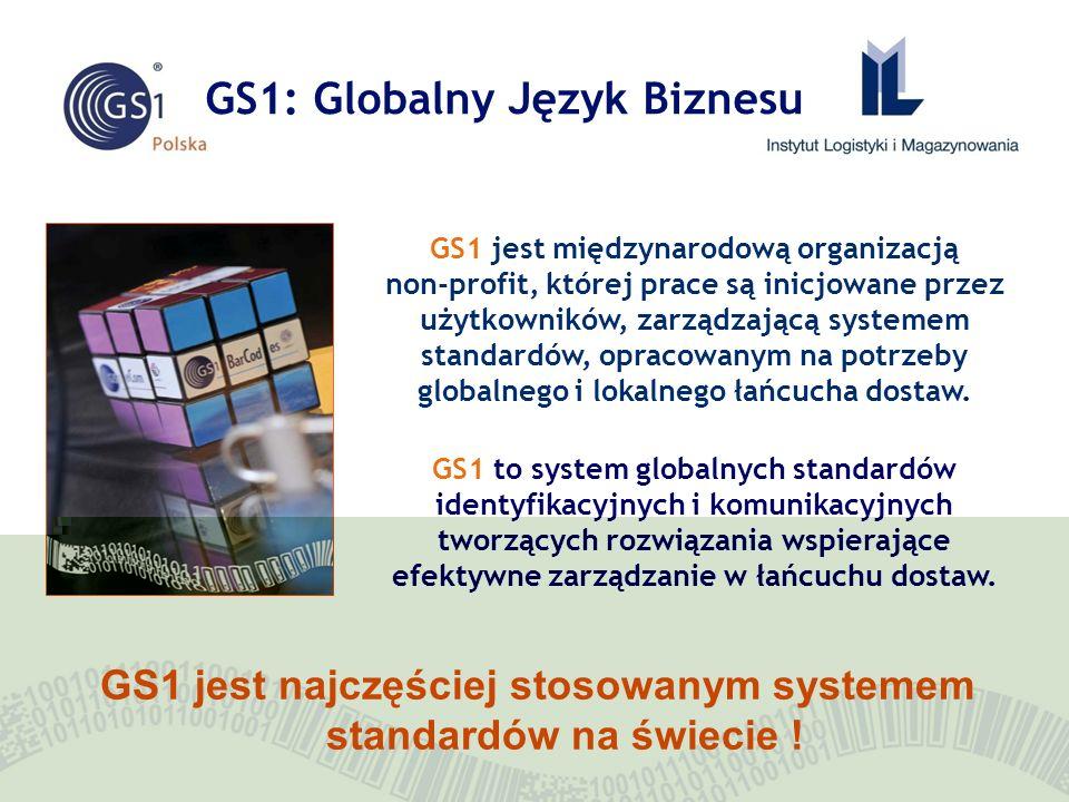 GS1: Globalny Język Biznesu GS1 jest międzynarodową organizacją non-profit, której prace są inicjowane przez użytkowników, zarządzającą systemem stand