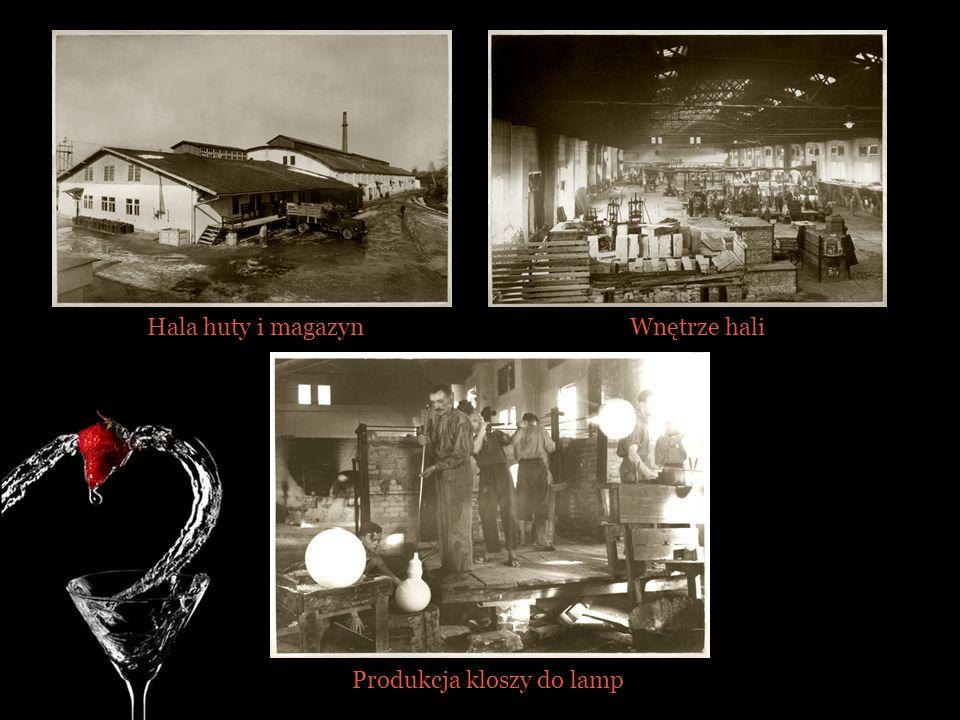 Hala huty i magazynWnętrze hali Produkcja kloszy do lamp