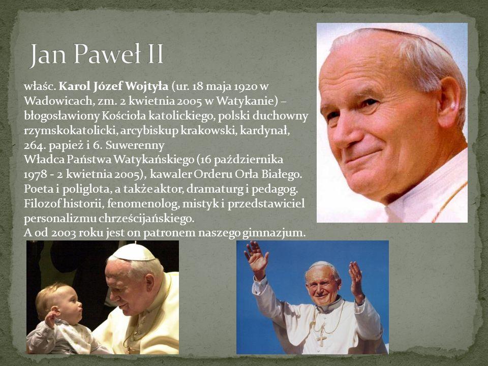 właśc. Karol Józef Wojtyła (ur. 18 maja 1920 w Wadowicach, zm. 2 kwietnia 2005 w Watykanie) – błogosławiony Kościoła katolickiego, polski duchowny rzy