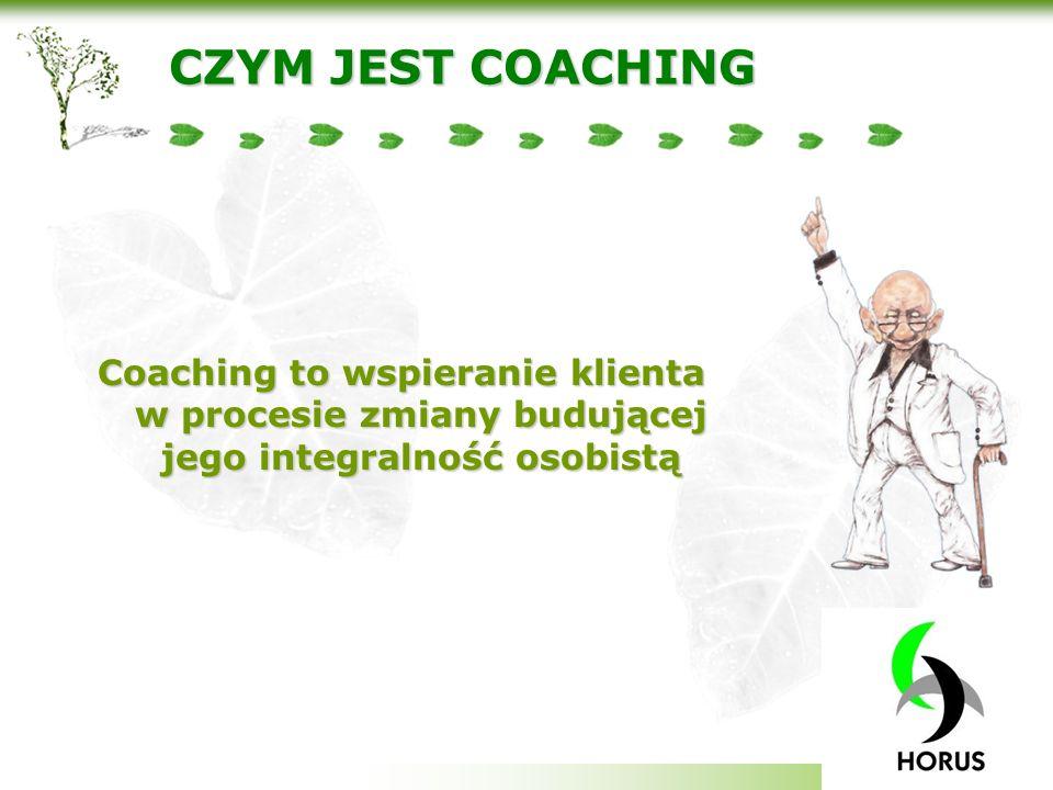 Your company slogan CZYM JEST COACHING Coaching to wspieranie klienta w procesie zmiany budującej jego integralność osobistą
