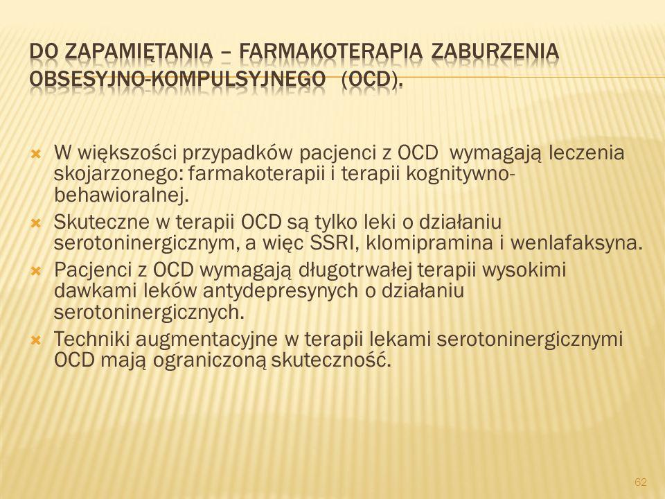 W większości przypadków pacjenci z zespołem lęku panicznego wymagają leczenia skojarzonego: psycho- i farmakokterapii. Leki przeciwdepresyjne trójpier