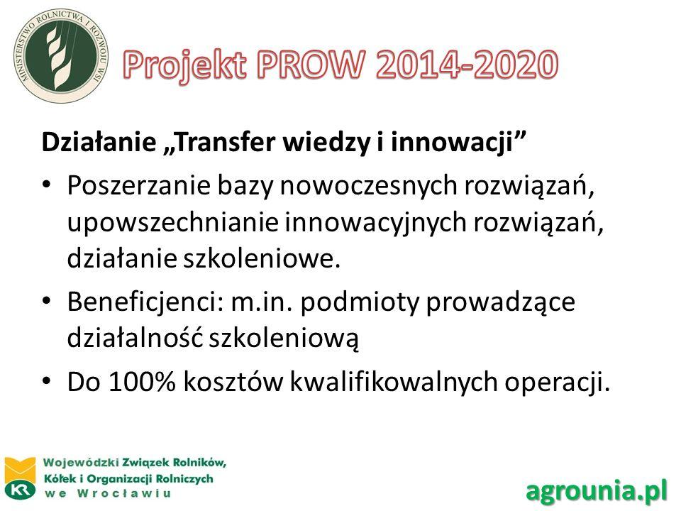 Działanie Transfer wiedzy i innowacji Poszerzanie bazy nowoczesnych rozwiązań, upowszechnianie innowacyjnych rozwiązań, działanie szkoleniowe. Benefic