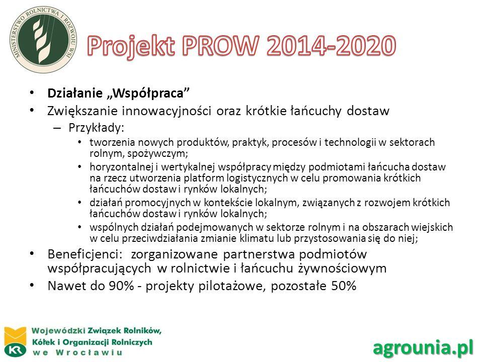 Działanie Współpraca Zwiększanie innowacyjności oraz krótkie łańcuchy dostaw – Przykłady: tworzenia nowych produktów, praktyk, procesów i technologii
