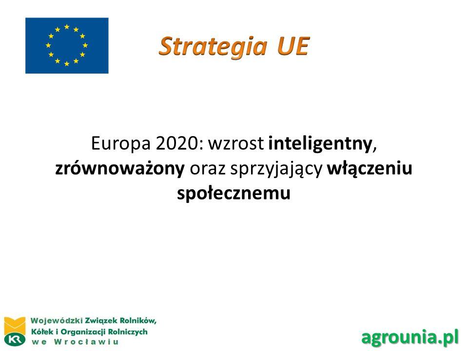 Europa 2020: wzrost inteligentny, zrównoważony oraz sprzyjający włączeniu społecznemu agrounia.pl