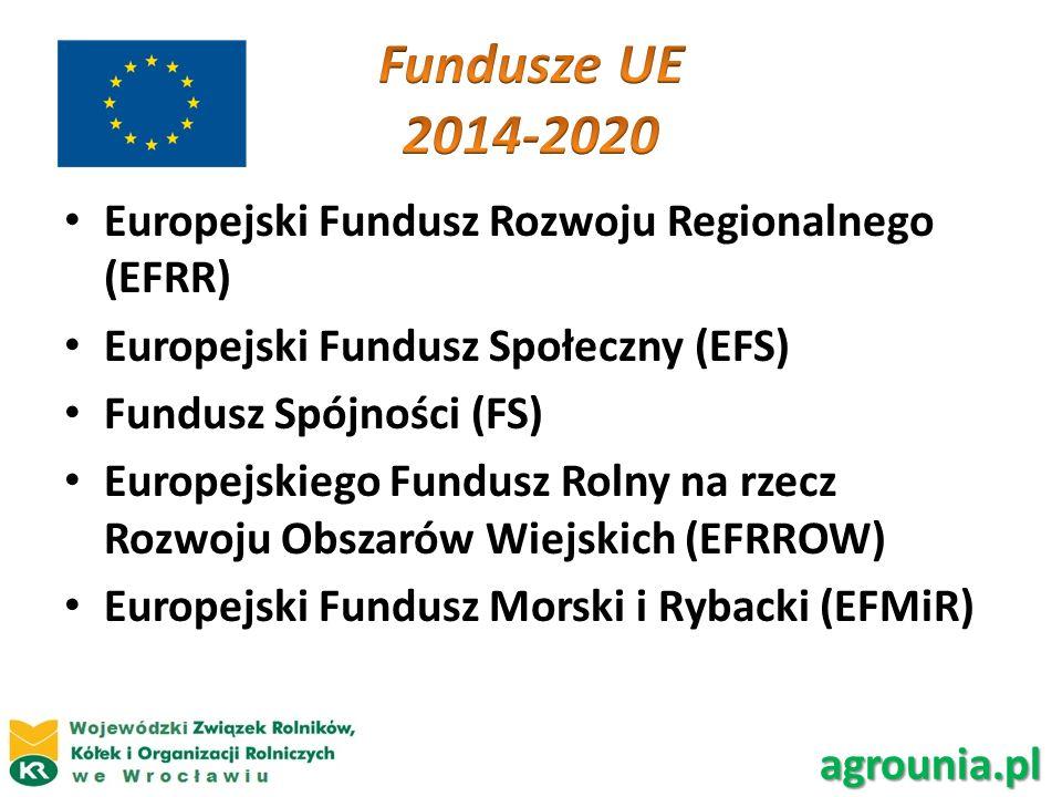 Europejski Fundusz Rozwoju Regionalnego (EFRR) Europejski Fundusz Społeczny (EFS) Fundusz Spójności (FS) Europejskiego Fundusz Rolny na rzecz Rozwoju