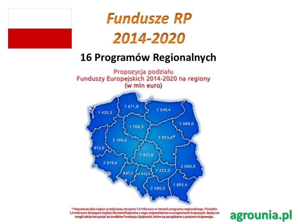 16 Programów Regionalnych agrounia.pl