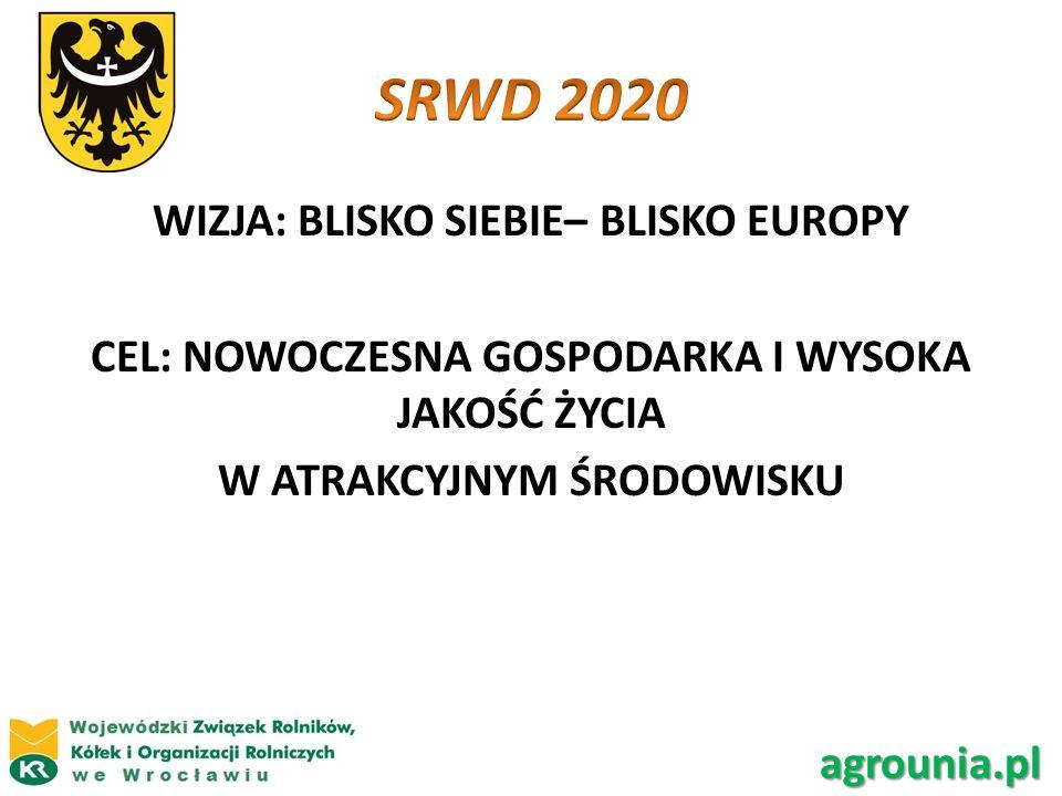 WIZJA: BLISKO SIEBIE– BLISKO EUROPY CEL: NOWOCZESNA GOSPODARKA I WYSOKA JAKOŚĆ ŻYCIA W ATRAKCYJNYM ŚRODOWISKU agrounia.pl