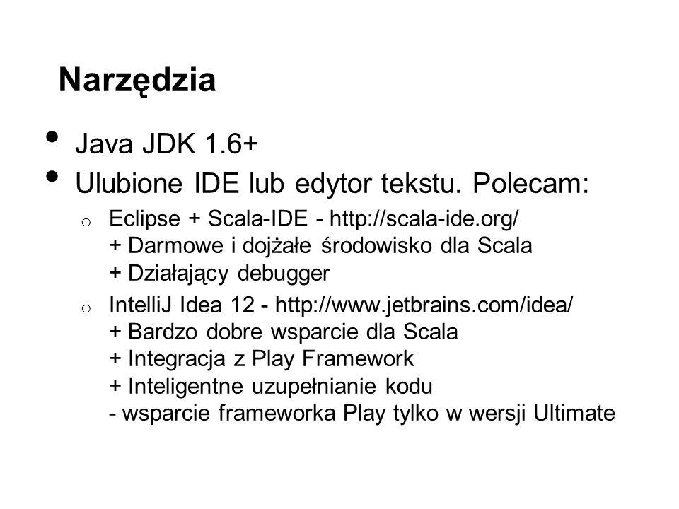 Narzędzia Java JDK 1.6+ Ulubione IDE lub edytor tekstu.