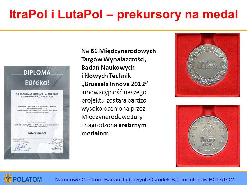 Narodowe Centrum Badań Jądrowych Ośrodek Radioizotopów POLATOM ItraPol i LutaPol – prekursory na medal Na 61 Międzynarodowych Targów Wynalazczości, Ba