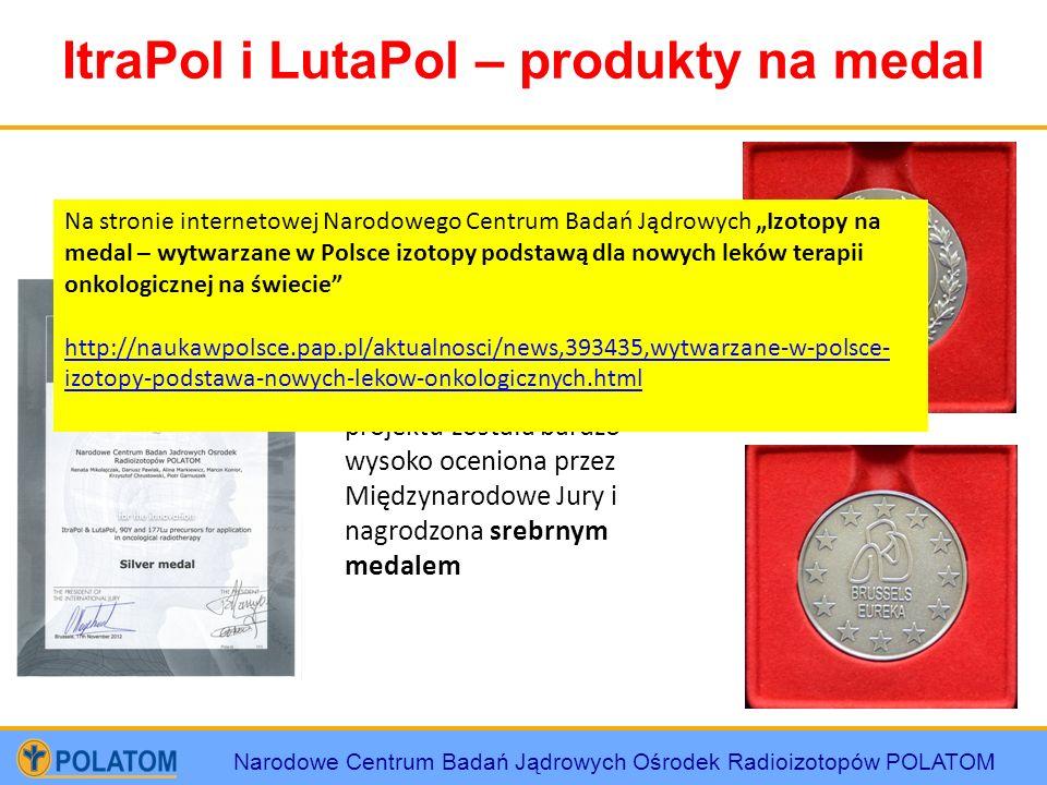 Narodowe Centrum Badań Jądrowych Ośrodek Radioizotopów POLATOM ItraPol i LutaPol – produkty na medal Na 61 Międzynarodowych Targów Wynalazczości, Bada
