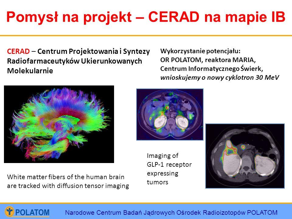 Narodowe Centrum Badań Jądrowych Ośrodek Radioizotopów POLATOM Pomysł na projekt – CERAD na mapie IB CERAD – Centrum Projektowania i Syntezy Radiofarm
