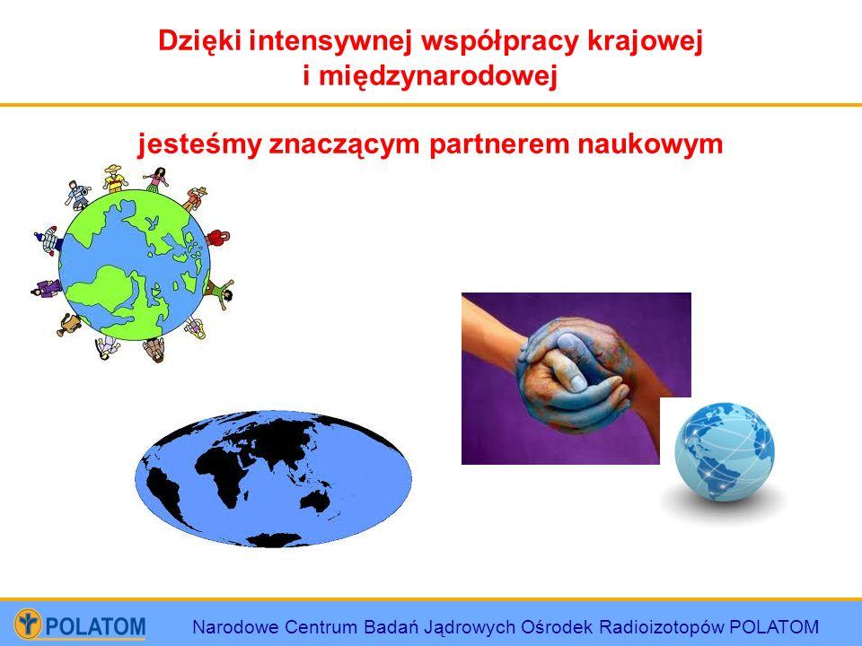 Narodowe Centrum Badań Jądrowych Ośrodek Radioizotopów POLATOM Dzięki intensywnej współpracy krajowej i międzynarodowej jesteśmy znaczącym partnerem n