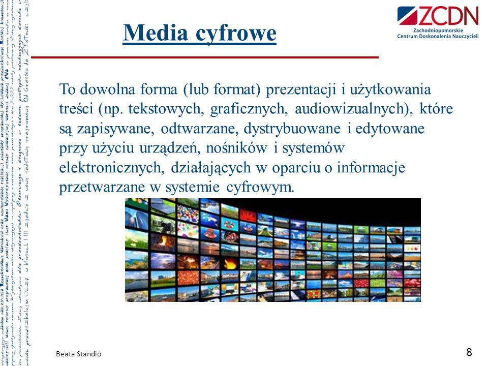 To dowolna forma (lub format) prezentacji i użytkowania treści (np. tekstowych, graficznych, audiowizualnych), które są zapisywane, odtwarzane, dystry