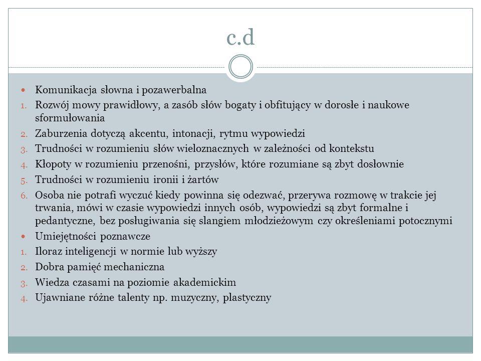 c.d Komunikacja słowna i pozawerbalna 1.