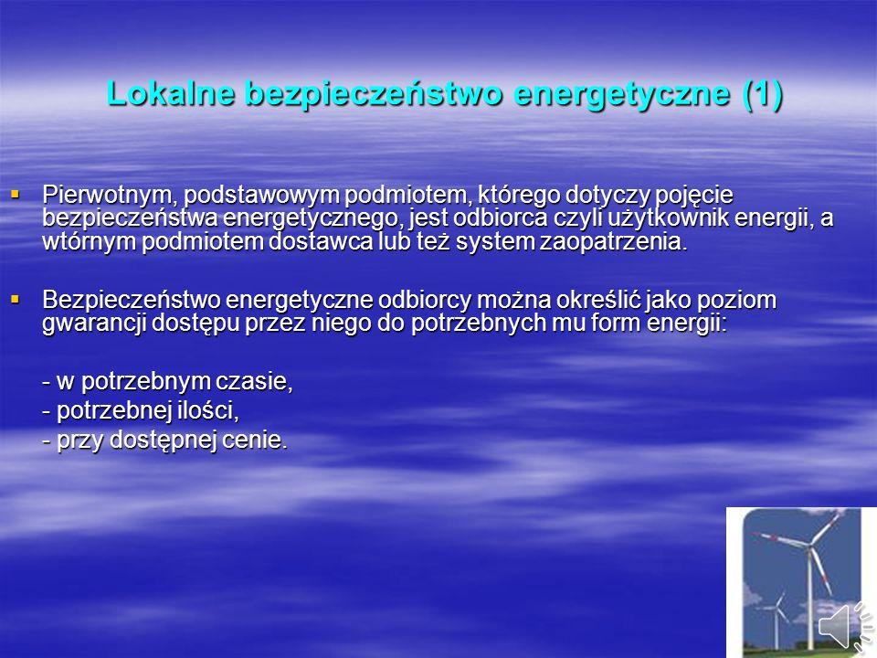 Lokalne bezpieczeństwo energetyczne