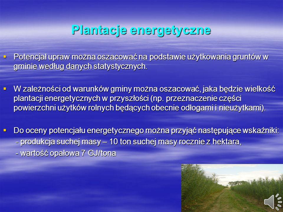 Biogaz Potencjalne źródła biogazu do wykorzystania energetycznego są następujące: duże chlewnie, obory, duże chlewnie, obory, oczyszczalnie ścieków, o