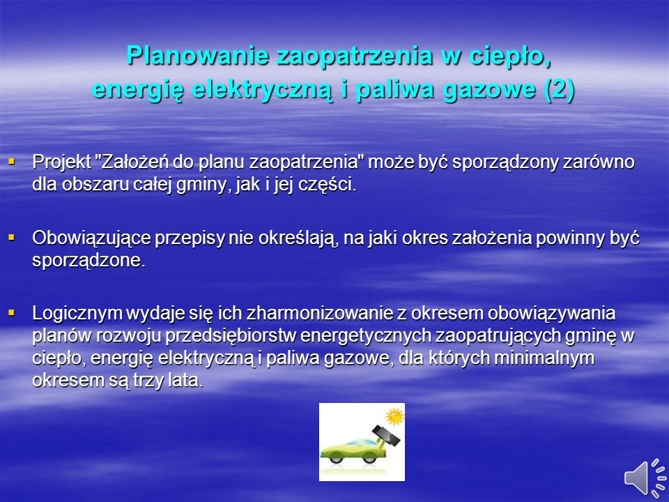 Planowanie zaopatrzenia w ciepło, energię elektryczną i paliwa gazowe (1) Planowanie zaopatrzenia w ciepło, energię elektryczną i paliwa gazowe (1) Us