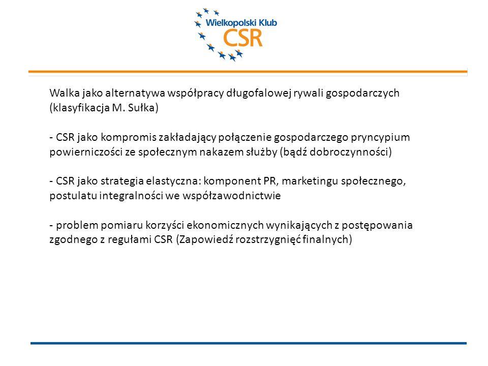 2. Konsekwencja jako warunek implementacji postulatu CSR.
