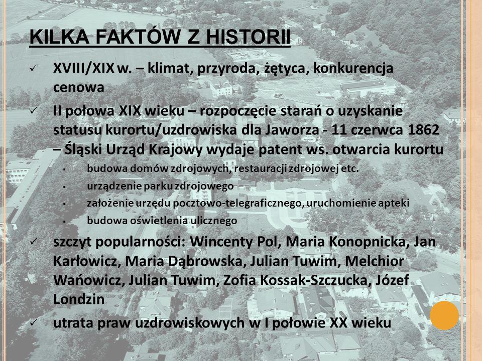 KILKA FAKTÓW Z HISTORII XVIII/XIX w.